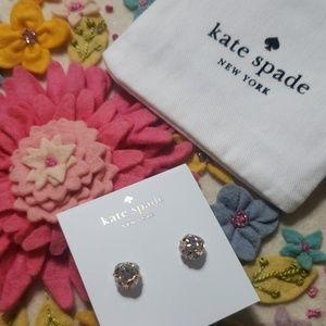 《Kate Spade》NEW Lady Marmalade Stud Earrings Gold